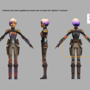 Sabine Wren (Series 3, Action gear/Heavy armour)